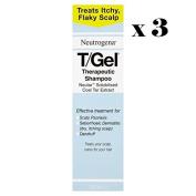 Neutrogena T/GEL Therapeutic Shampoo 3 Bottles x 250ml.