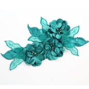 Beads4crafts 1 Green Applique Crystals Sew On Bridesmaid Accessorise Dress 285X140Mm Hl1040