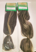 Silky Jumbro Braid - Braiding Hair made from 100% Japanese Synthetic Fibre - 2 Packets in Colour 1B/613