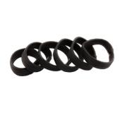 Set of 6 Flat Thick Small Black Ponytail Holder hair band hair bobble hair elastics