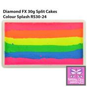 Diamond FX 30g Split Cake / One Stroke Face Paint ~ Colour Splash