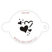 TAP Re-useable Face Paint Stencils - TAP007 Hearts