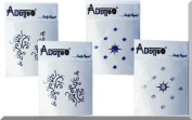 Addttoo Design Kit - 'Vegas' Black Swirls Combined with Clear & Blue Crystals. Crystal Adhesive Included.