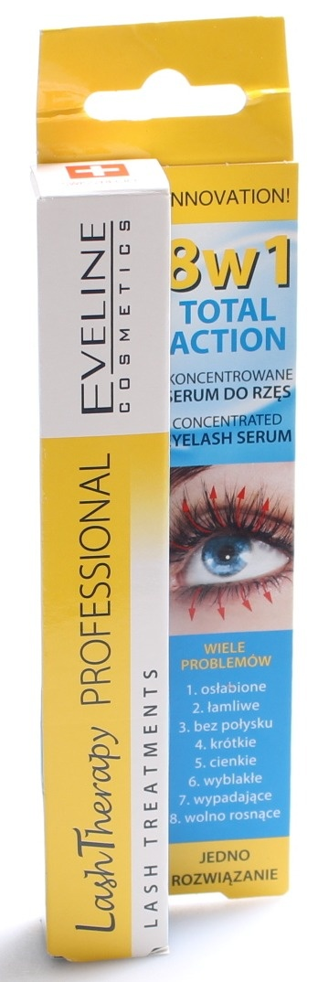 91dfdf4aef1 Eveline Cosmetics - Total Action Concentrated Eyelash Serum 8 in 1 ...