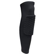 Extended Compression Crashproof Antislip Basketball Leg Sleeve with Hexpad Protective Pad