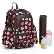Jude Ergo Baby Changing Backpack-Brown French Flower