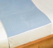 Washable Bed Protector/Pad with Tucks, Blue - Pack of 2
