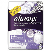 Always Discreet Normal - Incontinence Briefs (Pack of 10) - Large