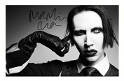 Marilyn Manson Autographed Signed A4 21cm x 29.7cm Poster Photo