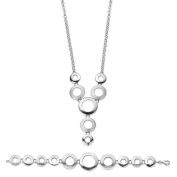 Orphelia Pure Collection SET - 925 Sterling Silver Necklace (43 CM) and Bracelet (19 CM) SET - 019