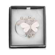 Equilibrium Butterfly and Flowers Brooch