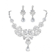 niceeshop(TM) Rhinestone Crystal Bridal Jewellery Sets Necklace Earrings Classic Jewellery