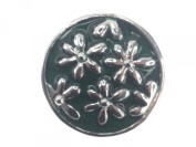 Click-it Flowers Button 18 mm Green