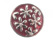 Click-it Flowers Button 18 mm Brown