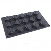 15 cell Honeycomb / Bees Wax Chocolate and Candy or Soap Moulds Silicone Mould