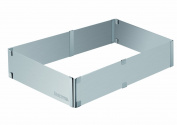 Tescoma 623 382 Delicia Ring Adjustable Rectangular Cakes, 28x20-50x34