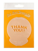 """ Thankyou Comic Splash 33cm Cupcake Stencil - Reusable Flexible Food Grade Plastic Stencil for Cake and Craft Design, Airbrushing and more"