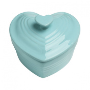 New Mini Heart Pale Blue Stoneware Casserole Baking Roasting Oven Cocotte Dish Pan Pot Roaster Cooking Cookware Dishes