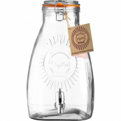 8 Litre Large Square Kilner Clip Top Storage Drink Ice Cocktail Preserving Wine Preserve Beverage Dispenser Jar With Tap