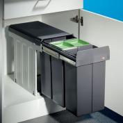 Wesco Bio Trio DT Waste System Revolving Door Drawer 3 x 10 Litre / 30 CM