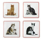 MacNeil Studio Cat & Kitten - Set of 4 Coasters