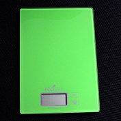 EcoSpa 'Earth Green' Glass Electonic LCD Kitchen Food Weighing Scales 1g-5kg