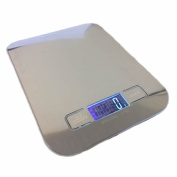 Jazooli 1g - 5KG Digital LCD Electronic Kitchen Household Weighing Food Cooking Scales - Grey