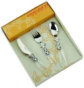 Bugatti 07-S42231T Bambini Children's Cutlery Aladdin Steel/ABS Transparent 22 x 17 x 3 cm