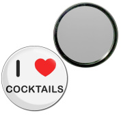 I Love Cocktails - 77mm Round Compact Mirror