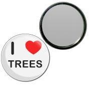 I Love Trees - 55mm Round Compact Mirror