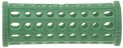 PLASTIC HAIR ROLLERS GREEN Pk10 x 25mm + FREE PINS
