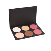 TOOGOO(R) New Professional 6 Colour Makeup Cosmetic Blush Blusher Contour Powder Palette