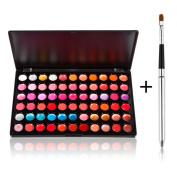 Fashion Base New High Quality 66 Colours Lip Gloss Palette Makeup Kit Set With FREE BRUSH