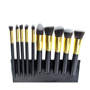 Ardisle 10pcs Kabuki Style Professional Make up Brush Set Foundation Blusher Face Powder -Package Content
