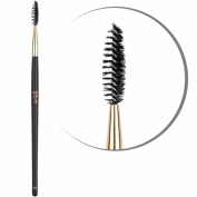 Best Eyebrow Brush Professional Makeup - B10 VEGAN High Quality Dense Synthetic Fibres Lash Brow Brush - Professionally & Easily Arrange the Eyebrows & Lashes Like a PRO to Achieve Optimal Results