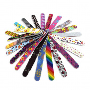 23 x NAIL FILES 23 DIFFERENTDESIGNS DOUBLE SIDED WHOLESALE
