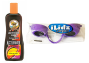 Australian Gold Dark Tanning Accelerator lotion 250ml + FREE TANNING GOGGLES