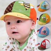 HuntGold 1X Baby Cartoon Bee Printing Hat Cap Cotton Baby Care Sun Hat