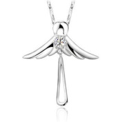 925 Sterling Silver Guardian Angel Pendant Necklace Fashion Fine Jewellery (Gift Pouch Included) Fine Fashion Jewellery
