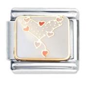 Heart of Hearts Design Enamel Italian Charm - fits Nomination Classic Bracelet - ()