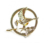 Movie Inspired HG Gold Tone Katniss Mocking bird Brooch/Pin