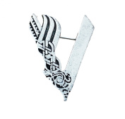Vikings' Ragnar Lodbrok Silver Tone Odin Viking Brooch/Pin Inspired by the TV Show