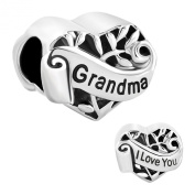 I Love You Grandma Heart Family Charms Sale Cheap Jewellery Bead fit Pandora Bracelet