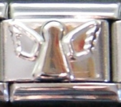 ANGEL silver coloured charm - 9mm Italian charm will fit Nomination classic bracelet