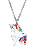 Magical Unicorn Design Cute Quirky Necklace Suitable For Adults or Children (in an Organza Gift Pouch ) Fashion Jewellery