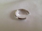 925 Sterling Silver adjustable Toe Ring Plain Slim Design