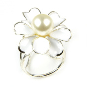 3 Ring Flower Scarf Ring Slide, Woggle Jewellery Scarf Ring, pt-800
