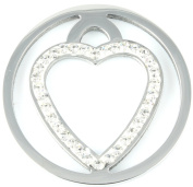 Milano Coin Disc For Milano Keeper Pendant Holder Locket Carrier Diamante Floating Heart