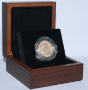 1965 Gold Full Sovereign - Luxury Walnut Presentation Case with Air Tight Coin Capsule