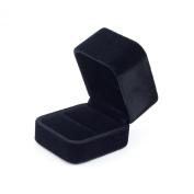 Premium Tall Square Long-Pile-Velvet Ring Box / Gift Box -Black